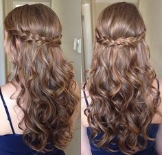 Half up Half down Curls