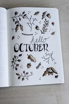 Plan with me – Oktober 2017 (Bullet Journal)