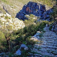 Barranc de l infern. Escaleras. Vall de Laguar #Alicante #mountain #ruraltourism