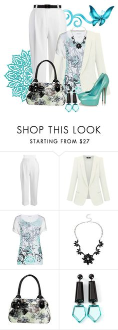"""""""Bring May Flowers! Entry #PolyvorePlus"""" by penny-martin ❤ liked on Polyvore featuring Jones New York, Betty Barclay, Mixit, Casadei, Emporio Armani, Marni and plus size clothing"""