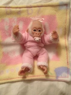 My ooak baby monkey polymer clay