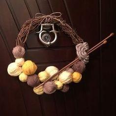 #diy #wreath with #yarn #yarnballs