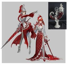 Red Knight, Girl, White and Red Armor Fantasy Character Design, Character Creation, Character Drawing, Character Design Inspiration, Character Concept, Concept Art, Art Et Illustration, Character Illustration, Girls Characters