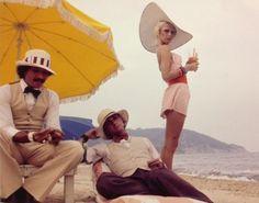 "deshistoiresdemode: "" Antonio Lopez, Corey Grant Tippin & Donna Jordan in St Tropez _ Photo by Karl Lagerfeld, 1971. """