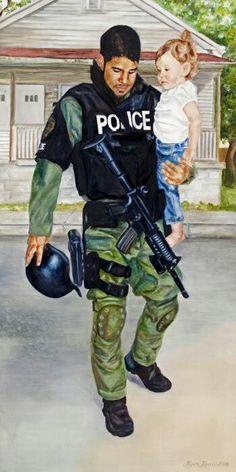 Law enforcement painting