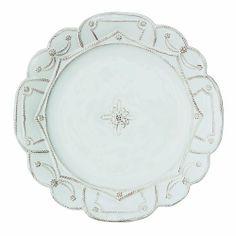 Juliska Jardins du Monde White Dinner Plate by Juliska. $45.00. Juliska Jardins White Dinner PlateEvocative of time worn statues, pebble pathways, and lilies, Whitewash is eternally elegant.