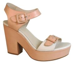 Wittner Ladies Shoes Nude Leather Platforms