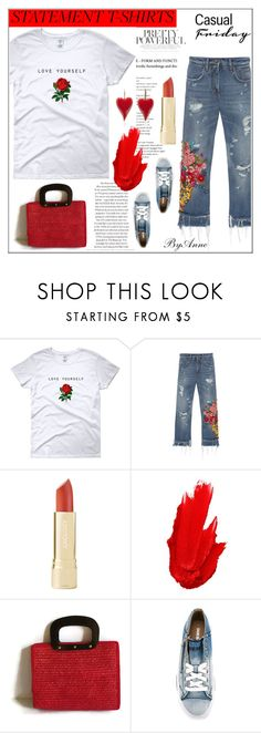 """""""Slogan T-shirt , contest"""" by anne-977 ❤ liked on Polyvore featuring Dolce&Gabbana, Maybelline, Diesel, polyvorecontest and slogantshirt"""