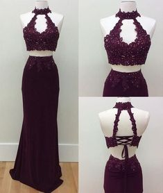 Ball Gown Prom Dress, long prom dress, burgundy prom dress, two pieces prom dress, lace prom dress Prom Dresses Girl 2 Piece Formal Dresses, Prom Dresses Two Piece, Pageant Dresses For Teens, Prom Dresses 2018, Dress Prom, Quinceanera Dresses, 15 Dresses, Party Dresses, Lace Evening Dresses