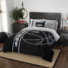 San Antonio Spurs NBA Full Comforter Bed in a Bag (Soft & Cozy) (76in x 86in)