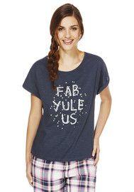 F&F Christmas Slogan Lounge T-Shirt
