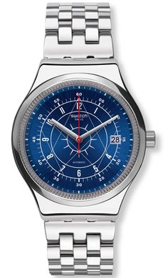 """Swatch Sistem51 Irony Watch With New Models Now In Steel - by David Brdan - see the new models, learn more on aBlogtoWatch.com """"Coming this fall, the famed Swatch Sistem51 collection gets its most important update yet: Swatch will debut six new men's and one new ladies' piece with the new Swatch Sistem51 Irony pieces, finally offering this impressive movement in steel cases..."""""""