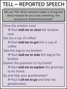 ASK & TELL - Reported Speech 2-2