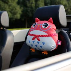Owl pillow for car cartoon deco car neck pillow