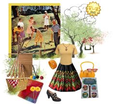 """""""Vintage BBQ"""" by alynncameron ❤ liked on Polyvore"""