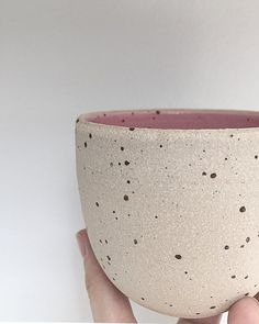 "Ceramics by Katerina Syriou (@twinearthceramics) on Instagram: ""Wheelthrown cup in Matte pink. Approx 8cm, available with or without a handle. . New Matte…"""