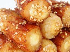 お弁当に☆チーズinちくわの甘辛焼きの画像 Pretzel Bites, Bento, Tofu, Lunch Box, Good Food, Food And Drink, Vegetables, Cooking, Recipes