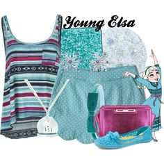 Young Elsa by amarie104 on Polyvore featuring Billabong, Keds, Nine West, Disney, shu uemura and Forever 21