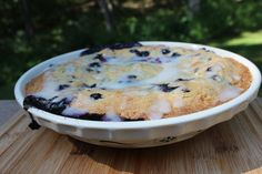 Farmhouse Deep Dish Blueberry Pie, Swedish style.