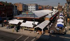 Findlay Market, located in downtown's Over-the-Rhine district, is Ohio's oldest continually operating public market. The market sells produce, meat, baked goods, and more, and is surrounded by small, independently-owned shops and stands.