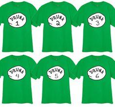 Choose Drunk 1 2 Funny St Patricks Pattys Day Pub Bar Crawl Tee Shirt Tshirt   eBay