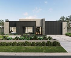 Modern House Colors, Modern Exterior House Designs, Small Modern House Plans, Classic House Exterior, Modern Small House Design, Modern House Facades, Contemporary House Plans, Dream House Exterior, Single Floor House Design