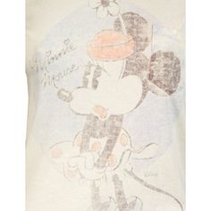 Junk Food Ladies Vintage Minnie Mouse T Shirt, Natural
