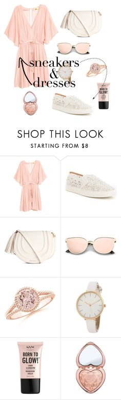 """Dress and sneakers 👗👟"" by fashionbeep ❤ liked on Polyvore featuring Antonio Melani, NYX and Too Faced Cosmetics"