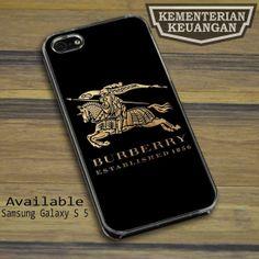 Burberry Gold Logo2 iPhone 4 4s 5 5s 5c case Samsung Galaxy S2 S3 S4 S5