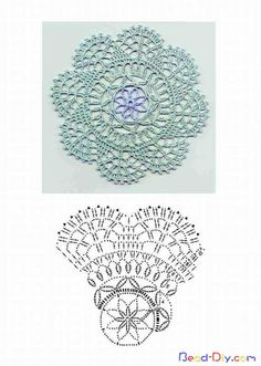 crochet doily pattern--small and simple