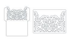 Wedding Invitation Pocket fold Envelope 5x7, SVG Template, Die cut, Quinceanera, Laser, Silhouette Cameo, Cricut cutting file