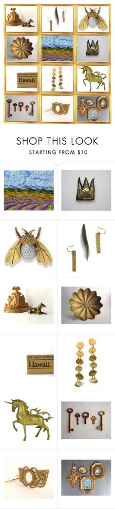 """""""A Golden Monday"""" by throwitforward ❤ liked on Polyvore featuring interior, interiors, interior design, home, home decor, interior decorating, Kraus and vintage"""