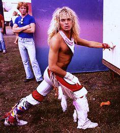 David Lee Roth of Van Halen in 1981