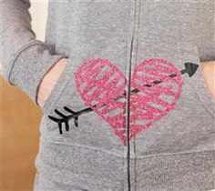 Your teen will love this adorable heart sweat suit!