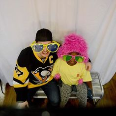 Fun with the captain: Penguins captain Sidney Crosby sits in a photobooth with Taylor Scott, 6, at Dick's Sporting Goods store in Cranberry on Monday. The Penguins joined The Salvation Army's Project Bundle-Up by treating select middle-school kids on a winter-clothing shopping spree at the store. (Photo by Michael Henninger/Post-Gazette) #Pittsburgh #PGH #412 #Penguins #PittsburghPenguins #LetsGoPens #LetsGoPenguins #NHL #Crosby #SidneyCrosby #DicksSportingGoods #SalvationArmy #PGPhotos