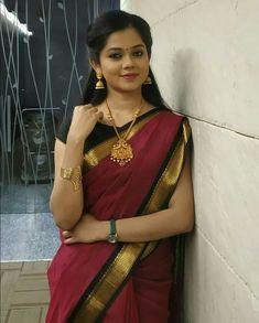 Red Saree, Saree Look, Saree Dress, Mysore Silk Saree, Silk Sarees, Saree Jewellery, Elegant Saree, Beautiful Saree, Beautiful Women