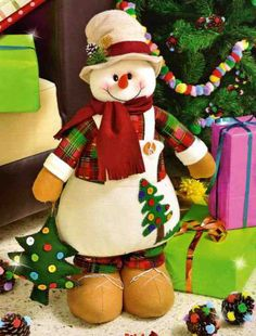 Cutest snowman from Fantastika! Felt Christmas Decorations, Christmas Wood, Christmas Snowman, Christmas Holidays, Christmas Crafts, Xmas, Christmas Ornaments, Snowman Crafts, Felt Crafts
