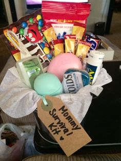 Mommy to be, mommy survival kit, baby shower, sprinkle shower