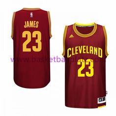ce6d06360d66 Cleveland Cavaliers Trikot Herren 15-16 LeBron James 23  Road Basketball  Trikot Swingman Wolle