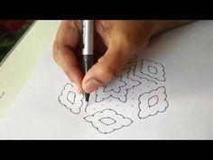 How to draw 15-8 sandhu pulli kolam - Dr.N.V.S.Sree Rathna Lakshmi