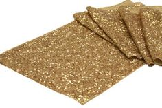"""Beaded 13"""" Charger Plates - Gold 