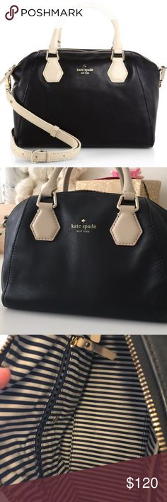 "Kate Spade Black Catherine Street Pippa mini In perfect preloved condition. No scratches or stains. Inside is very clean!!! Comes with strap, no signs of wear on handles.   5"" wide, 7"" tall, 10"" long   Reasonable offers encouraged   Sorry, no trades. kate spade Bags"