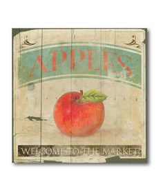 Take a look at this Apples Canvas Wall Art by COURTSIDE MARKET on #zulily today!