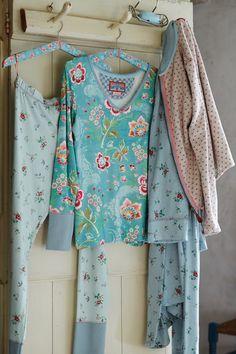 Pip Studio Legging Bobs Granny lang groen::Leggings::Homewear::Slaapkamer::De Linnenboom, de specialist in bed-, bad en keukentextiel