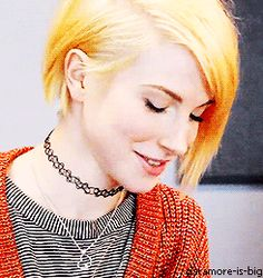 Hayley Williams she is my musical inspiration!!