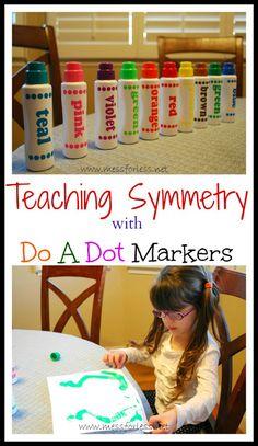 Preschool Art Activity to Teach Symmetry from Mess For Less #kids #math