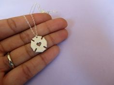 Hey, I found this really awesome Etsy listing at https://www.etsy.com/listing/242847231/maltese-cross-firefighter-necklace