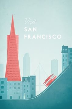 Travel poster - Henry Rivers - San Francisco