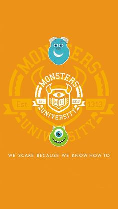 Monsters University iPhone 5 wallpaper or you can crop it and use or for any other device/phone/ipod/tablet