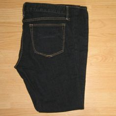 """GAP Always Skinny Petite Jeans in Dark Blue These jeans are in excellent condition. Look hardly worn at all. These are the Always Skinny jean in petite size. Made of 99% cotton 1% elastane. Tag size is 29/8p.  - Waist across with natural dip is 15.75"""" - Waist across when aligned is 16.25"""" - Front rise is 7.5"""" - Inseam is 29.5"""" GAP Jeans Skinny"""